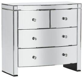 EX DISPLAY Argos Home Canzano 4 Drawer Mirrored Chest