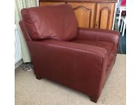 Marks & Spencer Leather Armchair. as NEW, cost £900 house move forces sale.