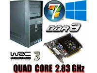 Light Gaming PC, Intel QUAD CORE 2.83GHz, GT220 1GB , 4GB Ram, 320GB