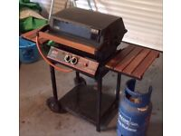 Pro Chef Outdoor BBQ with protective Cover and Gas Cylinder