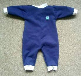 Splash About Warm in one fleece lined baby wetsuit 0-3 months