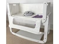 Snuzpod white with mattress, mattress protector and 2 x mattress covers - all as new - £150 ono