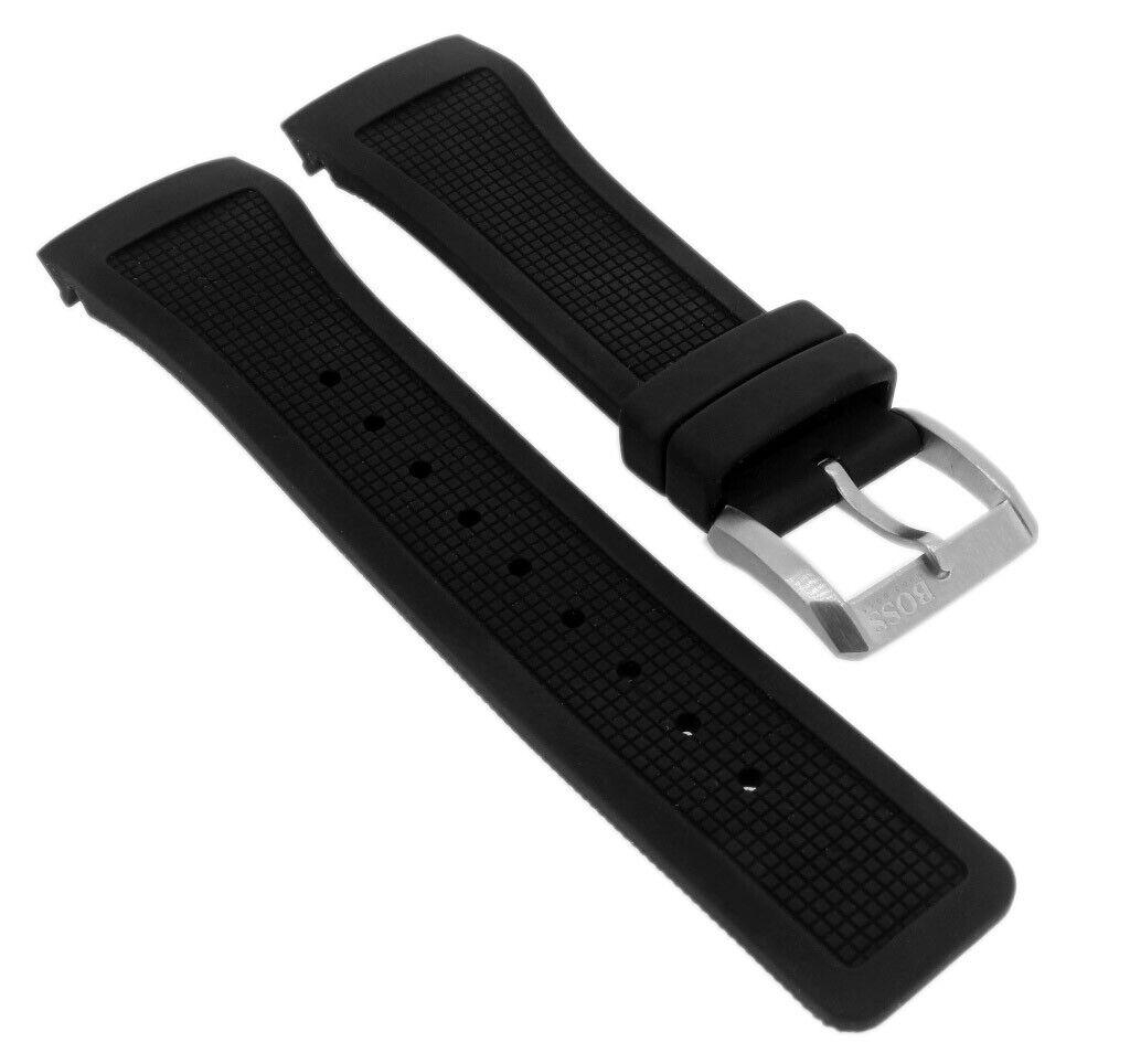 Hugo Boss Uhrenarmband | Kautschuk schwarz | für Herrenuhr 1512660