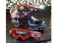 Viper motocross helmet and goggles