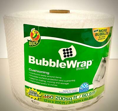 Duck Brand Original Bubble Wrap Cushioning 12 In. X 200 Ft. Clear.