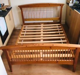Wooden double bed frame 190 x 135 cm