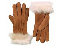 UGG Australia Womens Classic Long Cuff Gloves Chestnut BNWT