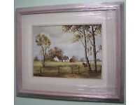 Irish Art Original Oil Painting FARM COTTAGE WITH FOAL by Irish Artist SAM GRAY