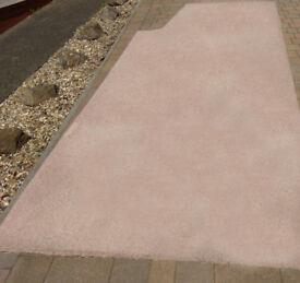 Beige carpet with underlay, good condition.