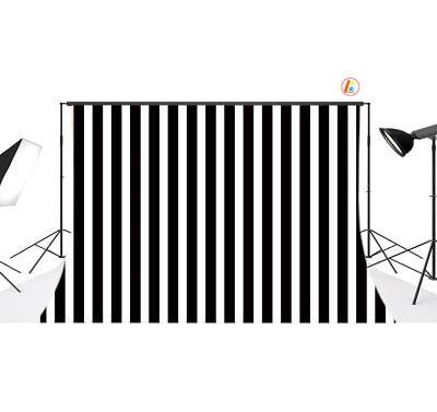 Black White Stripes 7X5FT Polyester Studio Props Photography Backdrop Background