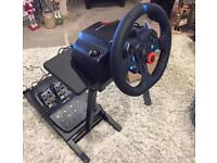 G29 Steering Wheel and pedals with Stand