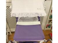 Genuine Silver cross dolls pram canopy and matching bed set *pram sold *