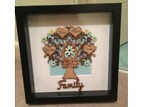 Personalised family tree frames gift ideas