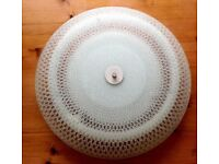 Ceiling Light Ferguson Flush Fitting Glass Circular Fluorescent.Ideal for kitchen/bathroom 45x45cm