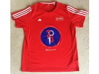 100% GENUINE OFFICIAL XL 2016 LONDON MARATHON FINISHER'S RUNNING SHIRT ADIDAS EXTRA LARGE TRIATHLON