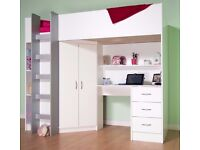 Cambridge High Sleeper Cabin Bed white. St.Mellons