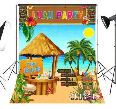 Photo Background Luau Party Seaside Landscape Photography Backdrop Studio Props - Luau Background