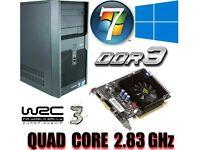 Light Gaming PC, Intel QUAD CORE 2.83GHz, GT220 1GB , 4GB Ram, 320GB