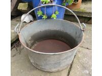 Vintage French preserving pan / bucket/ planter