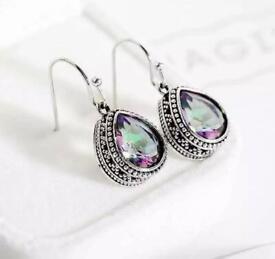 Silver Gem Earrings