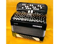 HOHNER 48 BASS C SCALE 3 ROW CHROMATIC ACCORDION USED