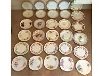 30 MISMATCHED VINTAGE CHINA TEA SET CAKE PLATES