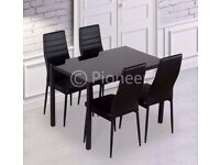 ❋★❋HIGH QUALITY ❋★❋BRAND NEW ❋★❋DINING TABLE WITH 4 FAUX LEATHER CHAIRS