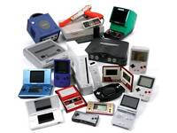 Wanted retro games and consoles Nintendo, sega ,
