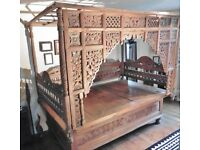 Antique Carved Indonesian Wedding Bed