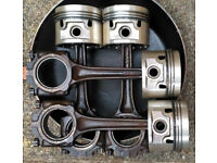 MGB set of pistons & con rods W43 +-030