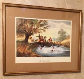 The Angler's Pool Framed Print