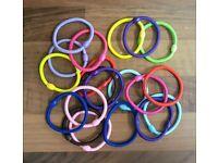 BRAND NEW Bulk Multicolour Girl / Women Elastic Hair Bands / Hair Bobbles / Bands / Accessories