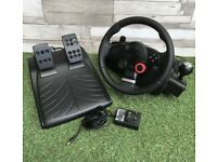 Logitech Driving Force GT Feedback Wheel & Pedals ps2/3/ pc