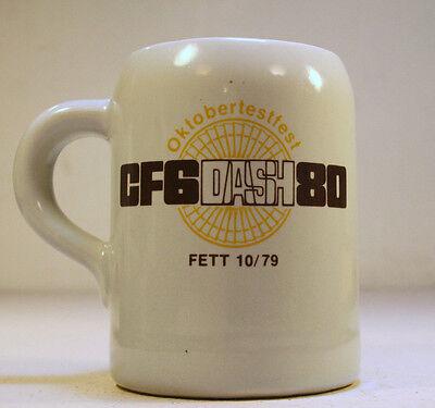 General Electric Mug Stein Cup CF6-80 Turbofan Cincinnati GE CF6 DASH 80