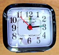 Small Trisonic Analog Travel Alarm Clock AA Operated