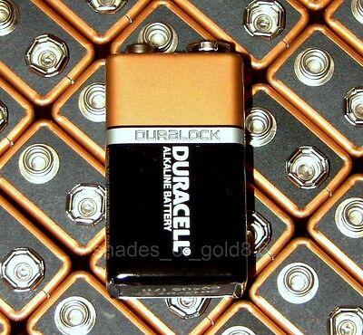 8 x 9 Volt (9V) Duracell CopperTop Duralock Alkaline Batteries (MN1604, 6LR61)