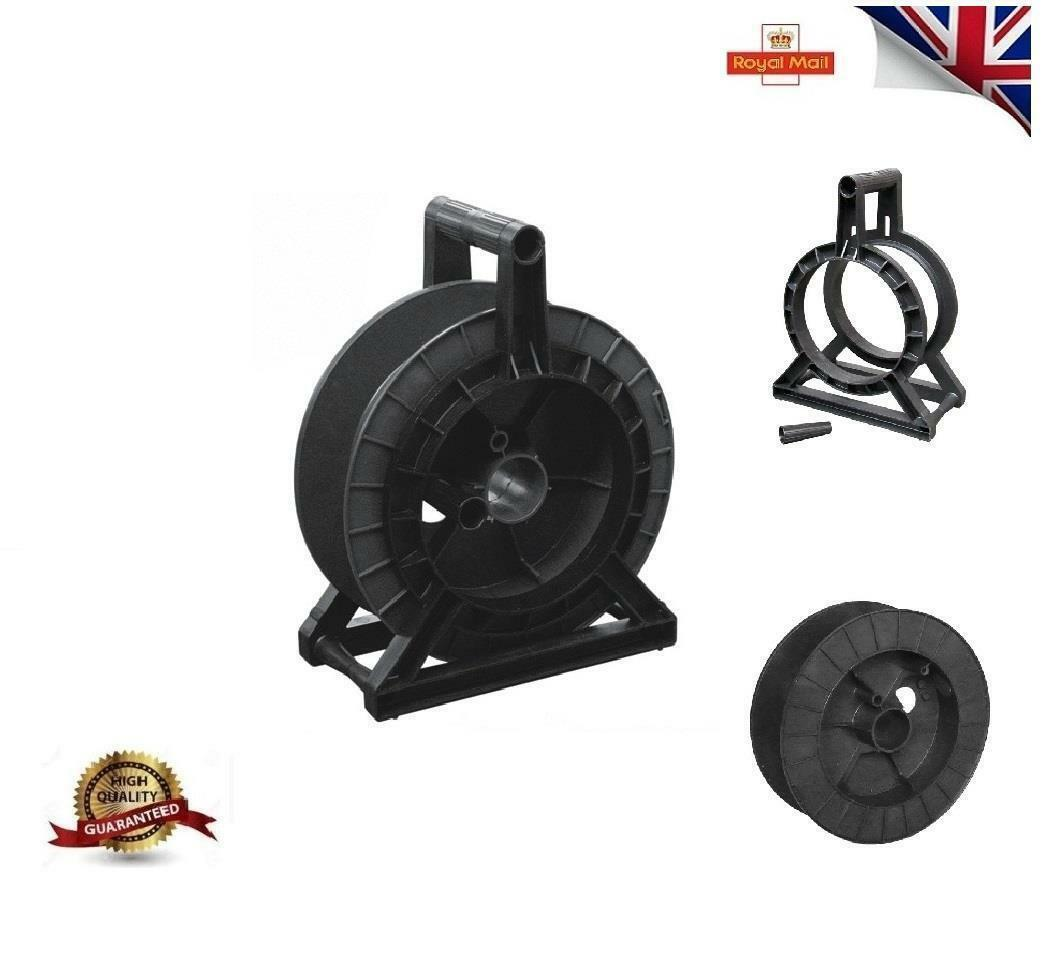 New Complete Black Reel Spool Stand Electric Fence