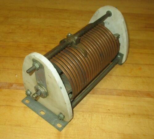 RCA high power roller inductor app 22uH variable inductance coil heavy copper