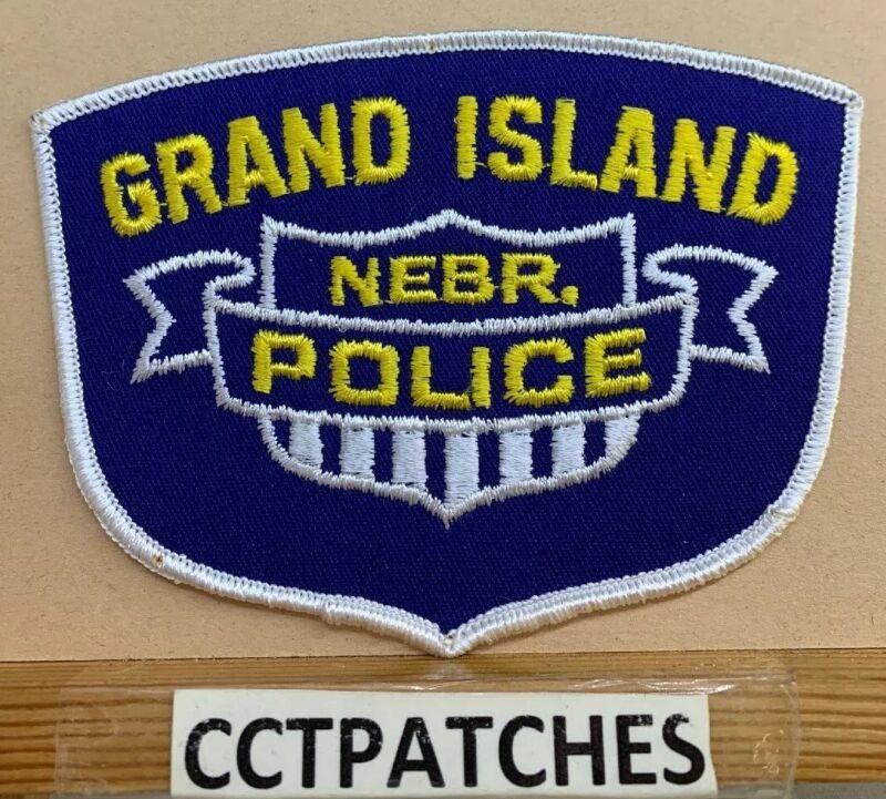 GRAND ISLAND, NEBRASKA POLICE SHOULDER PATCH NE