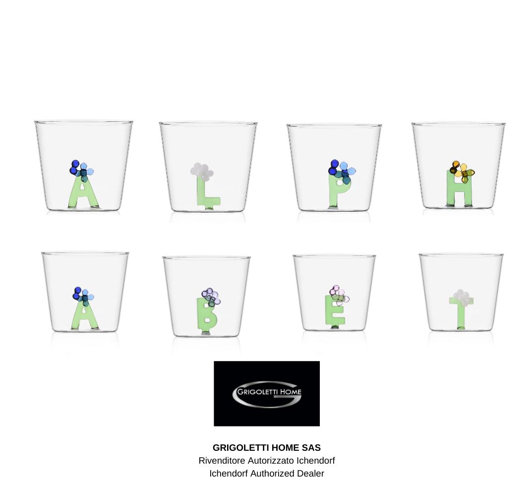 Bicchiere Tumbler Greenwood Bloom Alphabet Ichendorf - Lettere a scelta