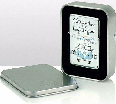 VW Volkswagen Camper Van 3 Windproof Cigarette Lighters  Gift Tin Case