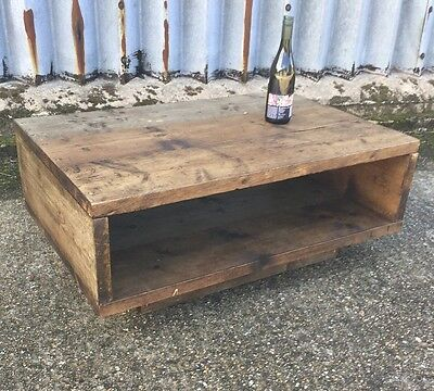 Rustic Industrial  Up-cycled Coffee Table
