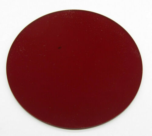 "5 1/2"" Red Safelight Filter Circle 1/8"" Thick Plastic for Photo Darkroom NEW F07"
