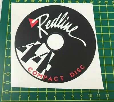 old school bmx decals stickers redline hub set front and rear black on clear