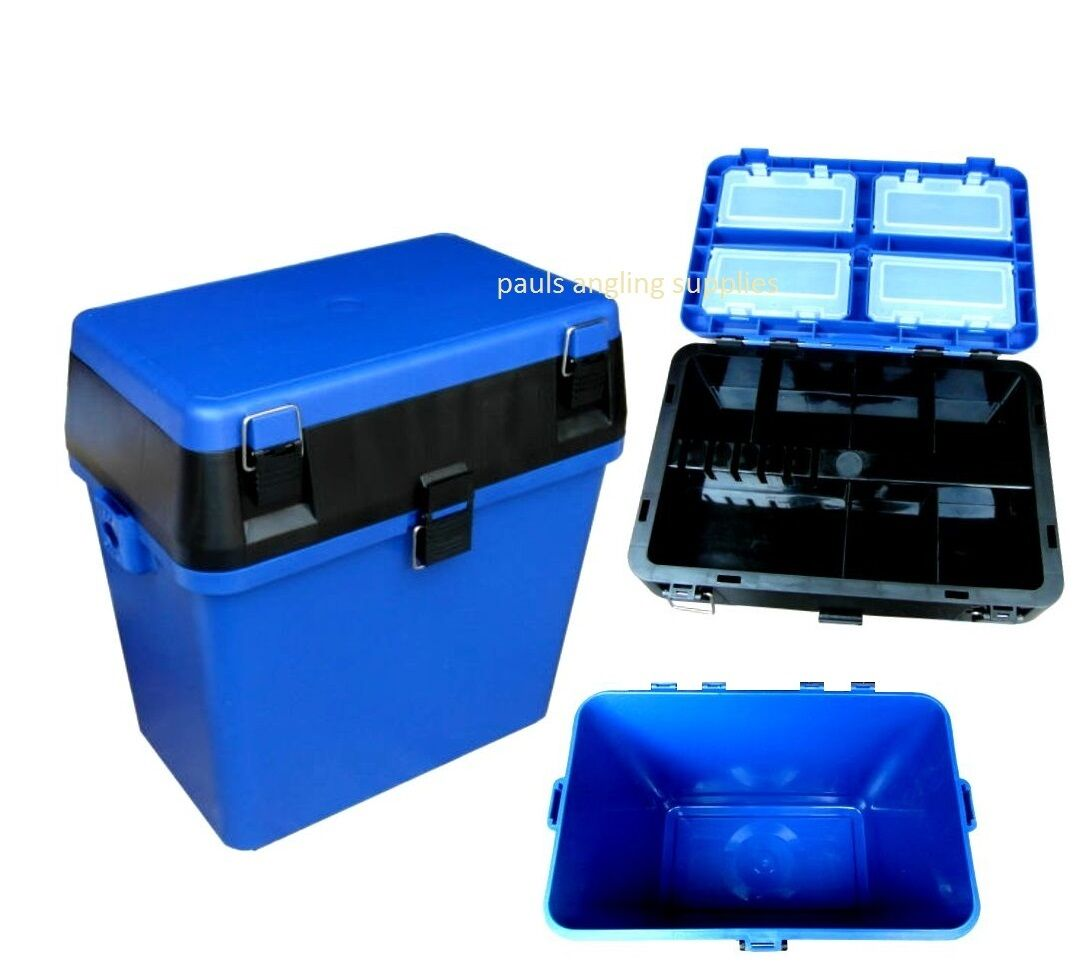 Fishing seat tackle box internal boxes for sea boat coarse for Fish box for boat
