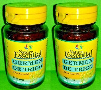 Aceite germen trigo 500 mg 2x60 perlas NATURE ESSENTIAL Corazon Fatiga