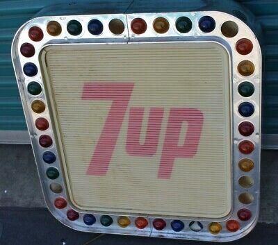 VINTAGE 7UP SEVEN UP SODA POP STORE ADVERTISING SIGN LIGHT DISPLAY needs restore