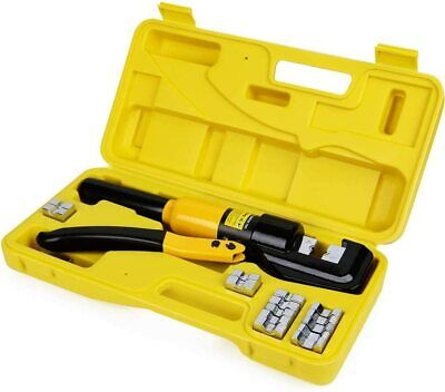 Hyclat 10 Tons Hydraulic Wire Battery Cable Lug Terminal Crimper Crimping Tool W