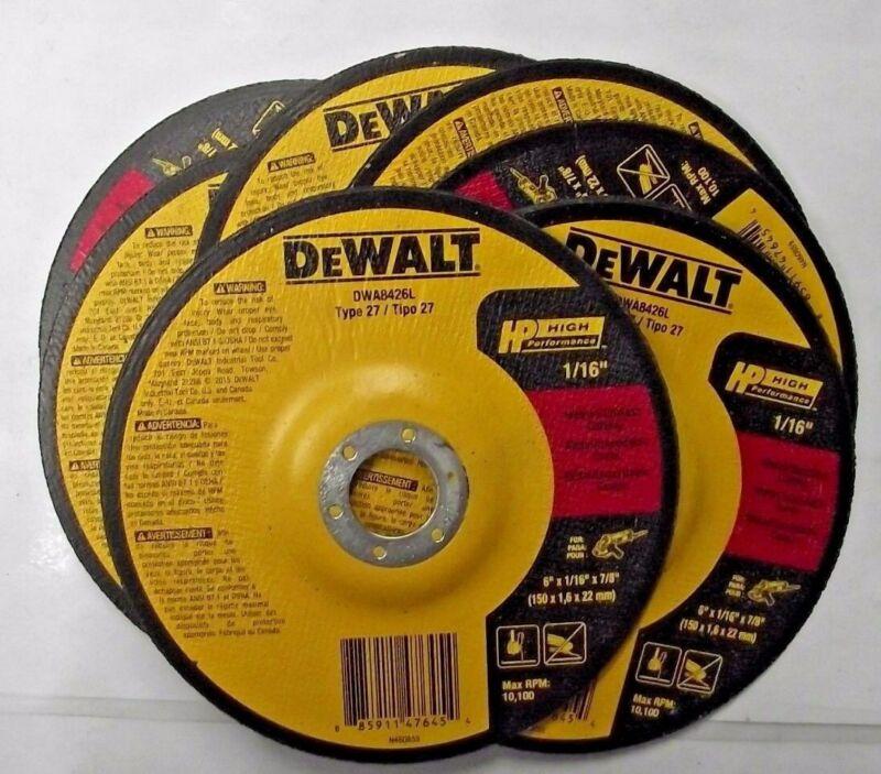 """Dewalt DWA8426L 6"""" x 1/16"""" x 7/8"""" T27 HP Long Life Cut-Off Wheels 10 Pack"""