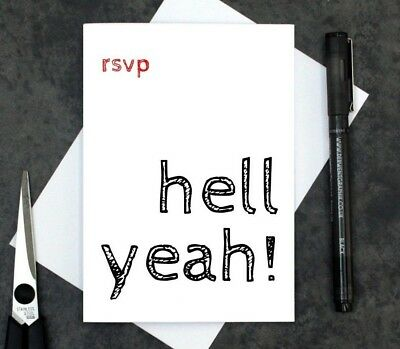 funny reply card - funny RSVP card - wedding acceptance card - party acceptance  Wedding Reply Card